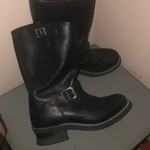 Rocky black leather engineer boots sz 10 m 2673